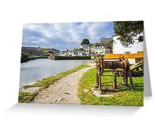Pentewan Cornwall England UK Greeting Card