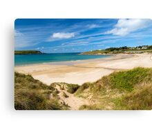 Beach at Daymer Bay Cornwall Canvas Print