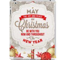 Joy and Peace Christmas Card iPad Case/Skin