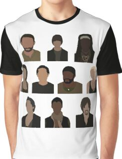 The Walking Dead Cast - Minimalist style Graphic T-Shirt