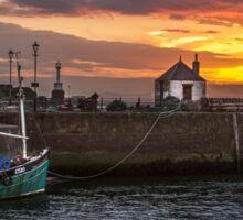 Maryport Harbour, Cumbria At Sunset Sticker
