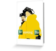 Jesse and Walt - Breaking Bad (with Logo) Greeting Card