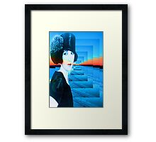 Top hat with snow Framed Print