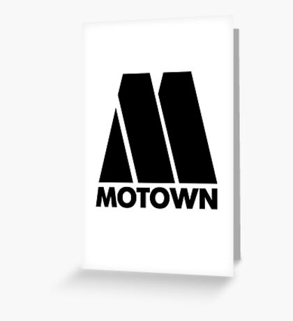 MOTOWN DISCO RECORDS Greeting Card