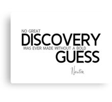 great discovery guess - newton Canvas Print