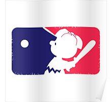 Peanuts League Baseball Poster