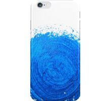 Blue brush strokes iPhone Case/Skin