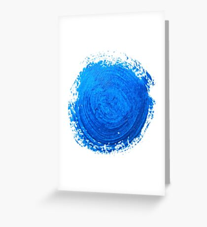 Blue brush strokes Greeting Card