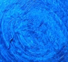 Blue brush strokes Sticker