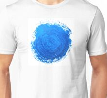 Blue brush strokes Unisex T-Shirt