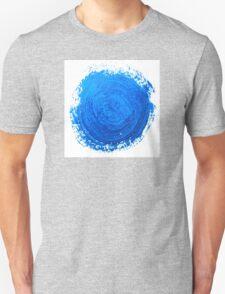Blue brush strokes Unisex T-Shirt