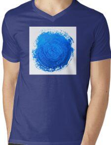 Blue brush strokes Mens V-Neck T-Shirt