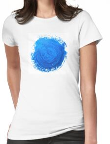 Blue brush strokes Womens Fitted T-Shirt