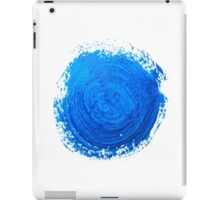 Blue brush strokes iPad Case/Skin