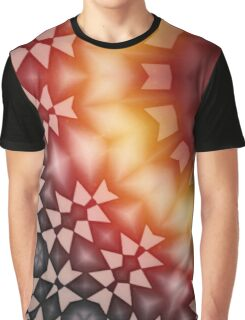 Radial geometric glowing pattern with warm colors Graphic T-Shirt