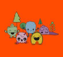 Cute Little Monsters  Kids Tee