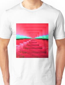 Red Abstract Unisex T-Shirt