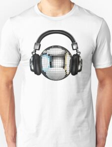 Headphone disco ball Unisex T-Shirt