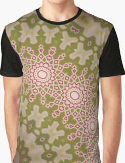 Radial geometric green, red and white pattern artistic stylish backdrop Graphic T-Shirt
