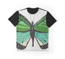 Super Green Butterfly Graphic T-Shirt
