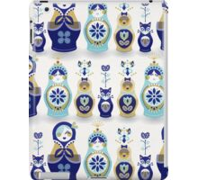 Russian Nesting Dolls – Blue & Gold iPad Case/Skin