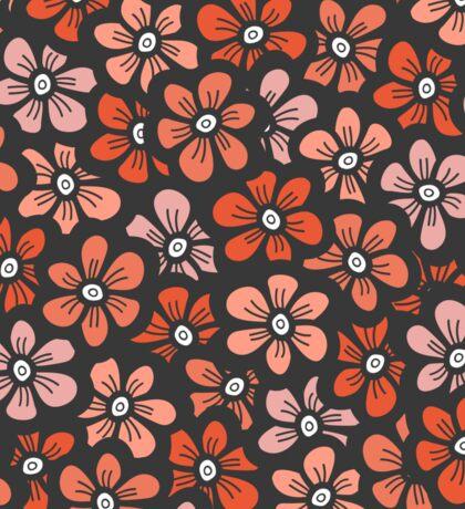 orange flower seamless pattern Sticker