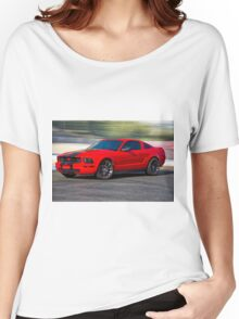 Modern Mustang Muscle 'Seeing Red' Women's Relaxed Fit T-Shirt