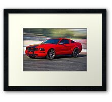 Modern Mustang Muscle 'Seeing Red' Framed Print