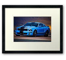 Mustang Muscle 'Feeling a Little Blue' Framed Print