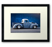 International Hot Rod Pickup 'In Profile' Framed Print