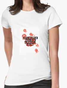 The White Stripes - Ball and a biscuit  Womens Fitted T-Shirt