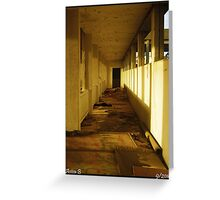 Abandoned corridors Greeting Card