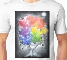 Chasing rainbows in the dark Unisex T-Shirt