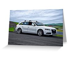 2011 Audi A4-2 Sports Sedan Greeting Card