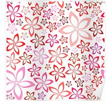 tender floral pink seamless pattern Poster