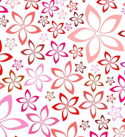 tender floral pink seamless pattern Sticker