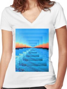 Infinity Snow Women's Fitted V-Neck T-Shirt