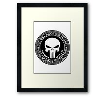 THE PUNISHER - GOD WILL JUDGE OUR ENEMIES Framed Print