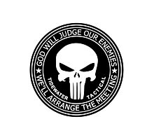 THE PUNISHER - GOD WILL JUDGE OUR ENEMIES Photographic Print