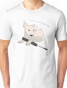 Puppies & Make-up Unisex T-Shirt