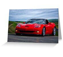 2009 Corvette ZR1 Roadster Greeting Card