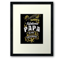 Papa Favorite Name Father's Day Framed Print