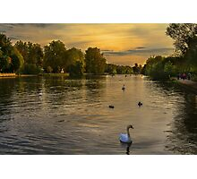 Thames Sunset At Marlow Buckinghamshire Photographic Print