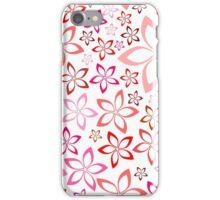 tender floral pink seamless pattern iPhone Case/Skin