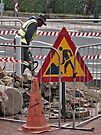 Man at work by awefaul