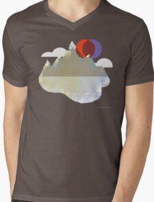 Lake Mountain Mens V-Neck T-Shirt