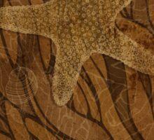 Starfish and seaweed Sticker