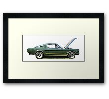 Side on Mustang Framed Print
