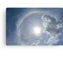 sky, sun and rainbow Canvas Print