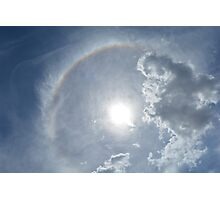 sky, sun and rainbow Photographic Print